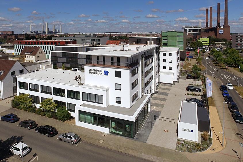 Blick auf das Hauptquartier der Volkswagen Immobilien.