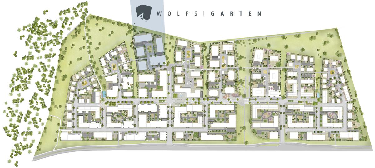 Lageplan Steimker Gärten.