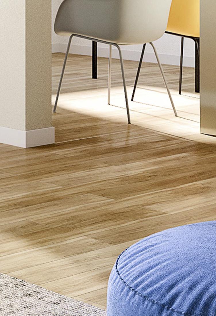 Fußboden in Holzoptik.