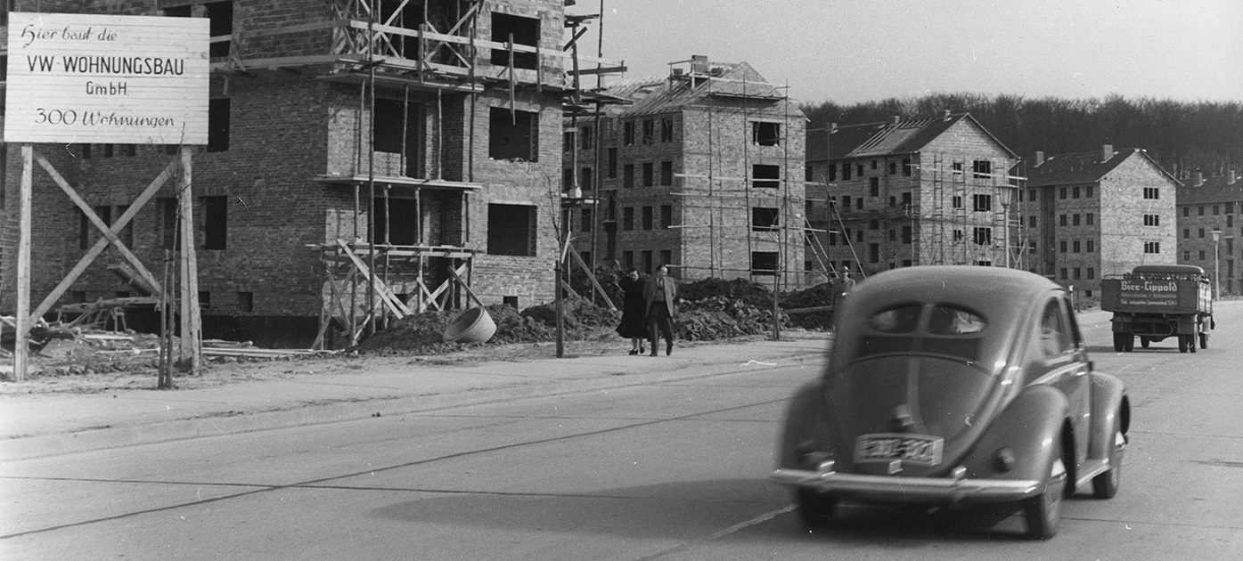 Historisches Bild der Volkswagen Immobilien.