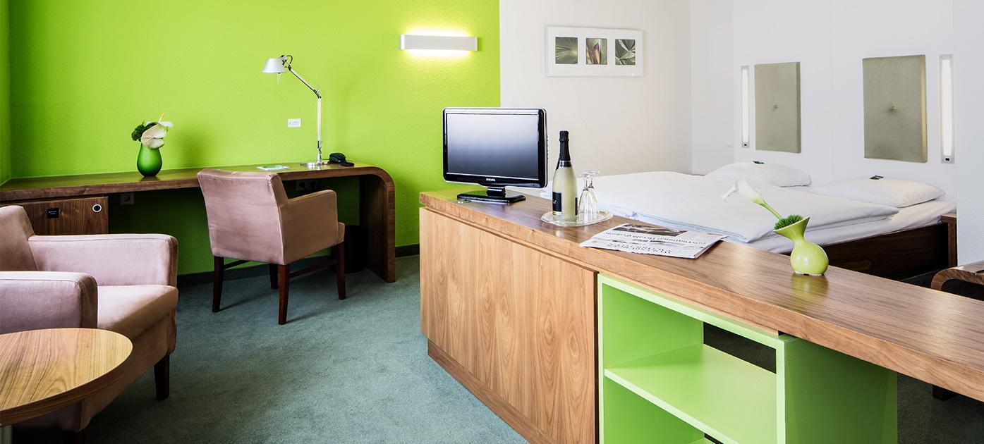 Hotelzimmer im Global-Inn.