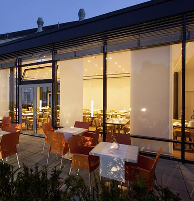 Terrasse des Hotels GlobalInn