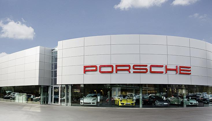 Referenz Gebäude Porsche