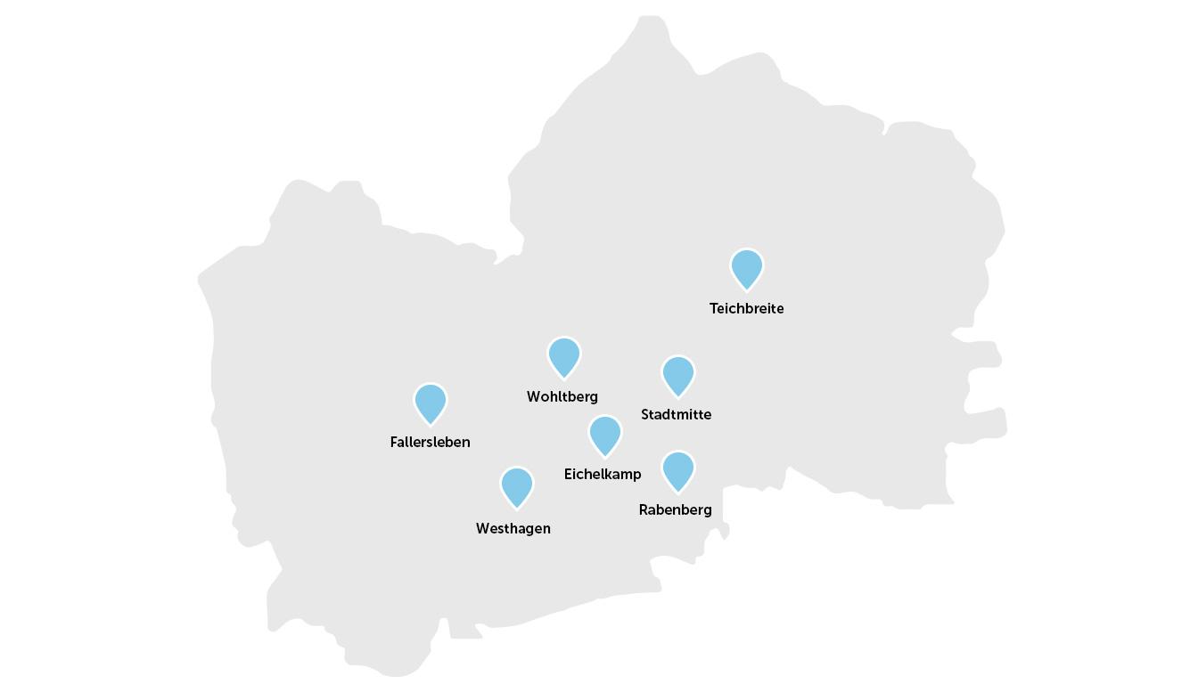 Karte des Einzelhandelsbestand.