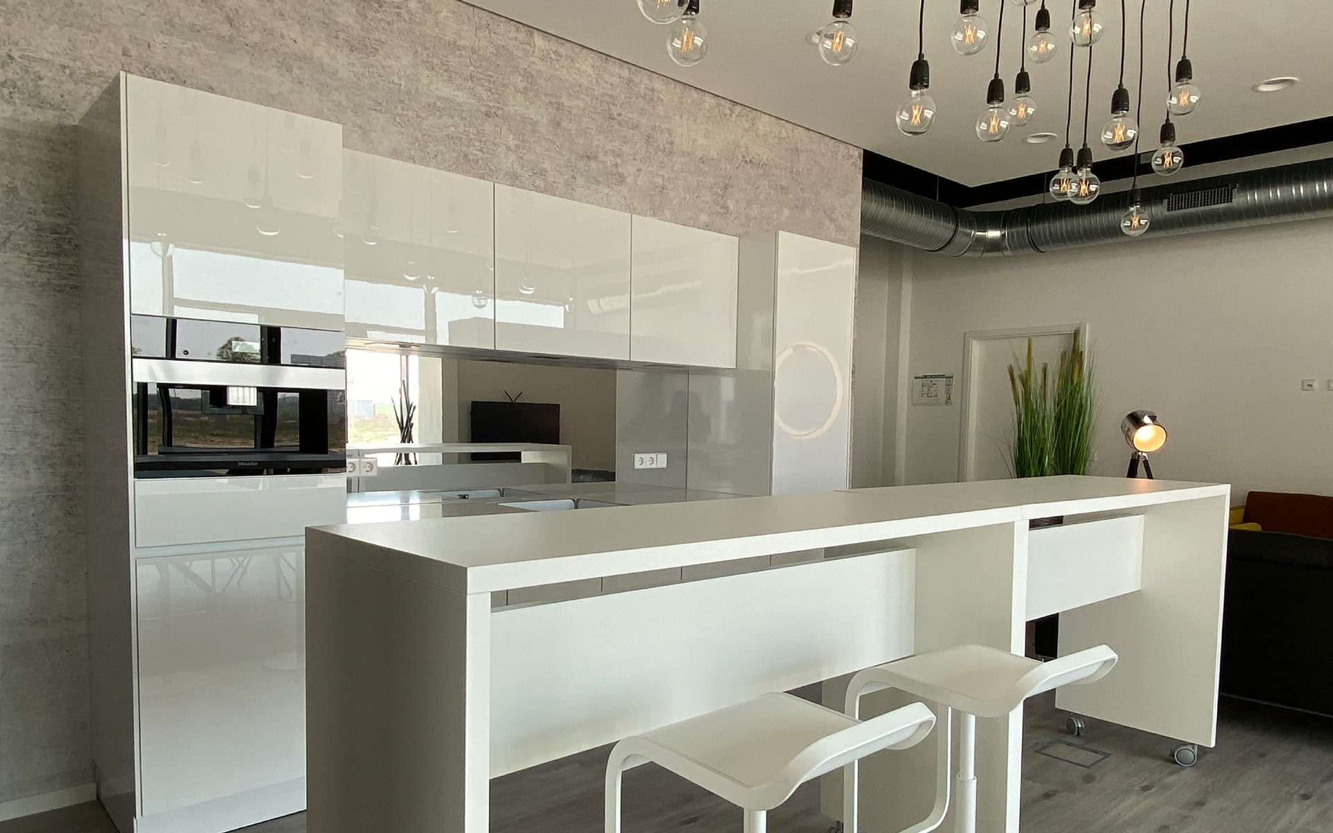 Küche im Vertriebsbüro Lindenhöfe