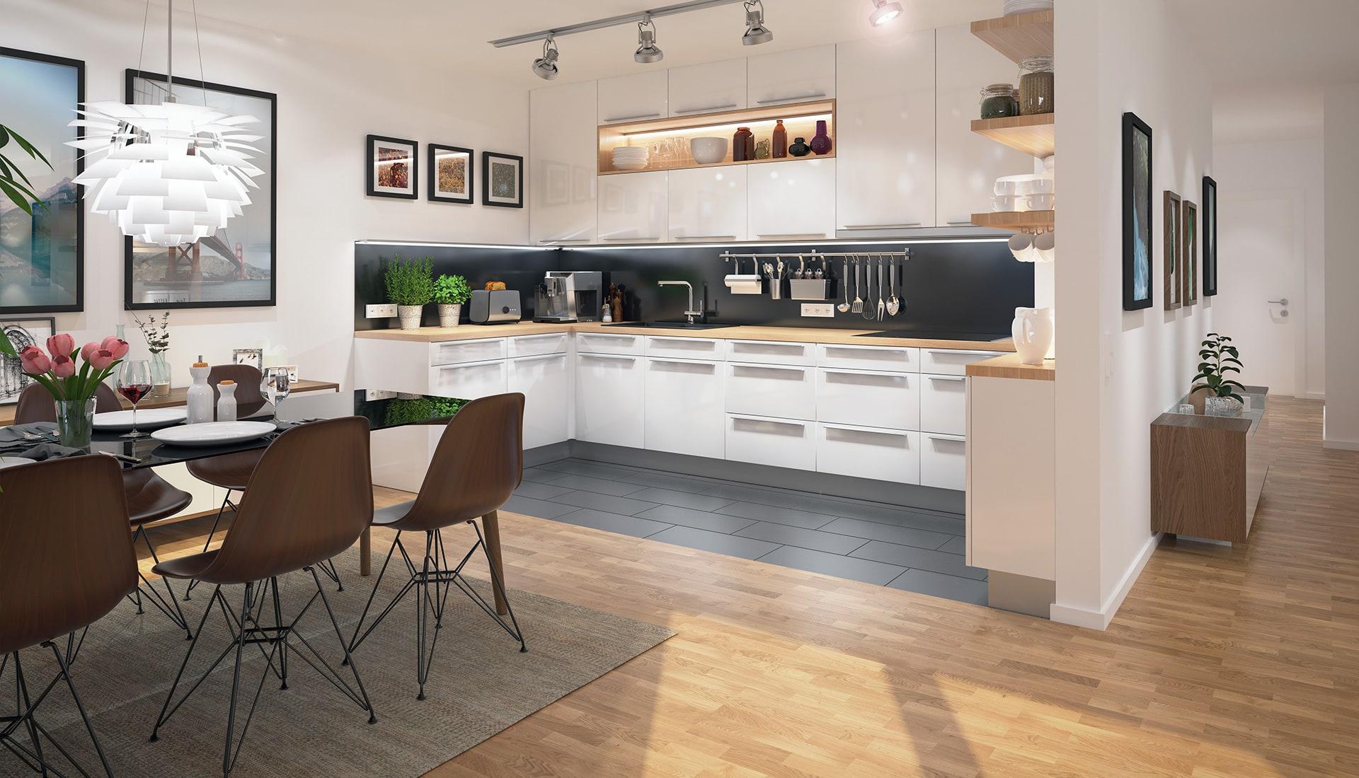 Weidenplan offene Küche