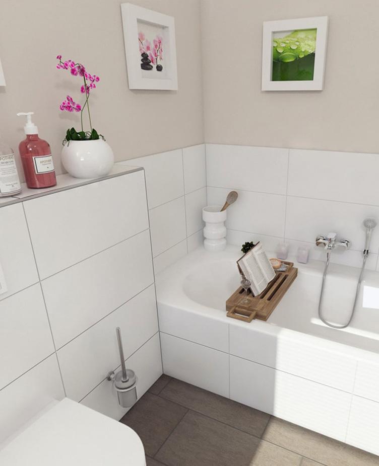Badezimmer in einer Wolfs|Garten Wohnung.