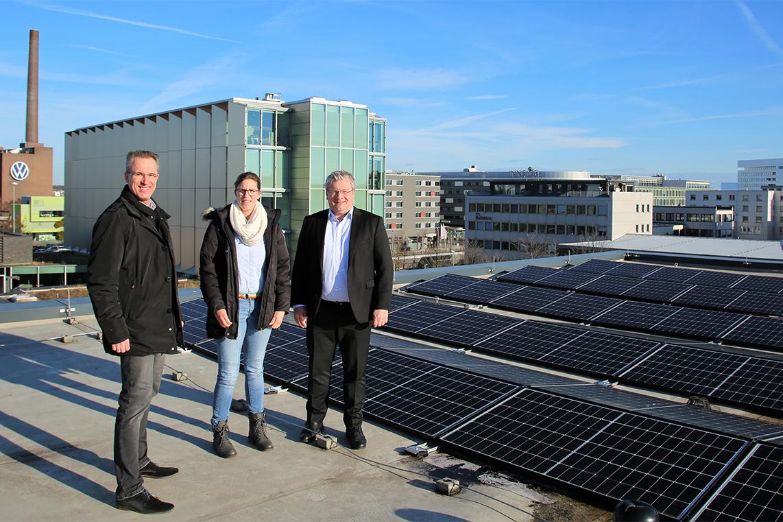 Photovoltaikanlage auf dem Dach der VWI