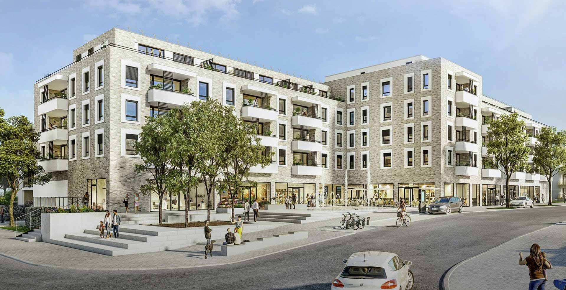 PromenadenCarré und Quartiersplatz.